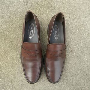 Tod's Italian Men's Boston Leather Penny Loafers